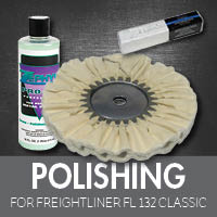 Polishing for Freightliner FL132 Classic