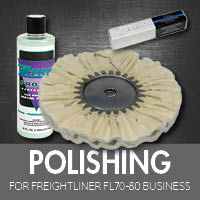 Polishing for Freightliner FL70-80 Business Class
