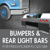 Bumpers for Freightliner FLC120 Set Back Axle