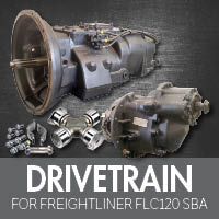 Drive Train for Freightliner FLC120 Set Back Axle