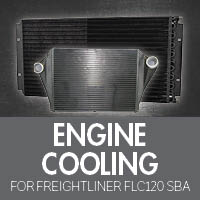 Engine Cooling for Freightliner FLC120 Set Back Axle