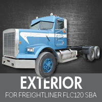 Exterior Parts for Freightliner FLC120 Set Back Axle