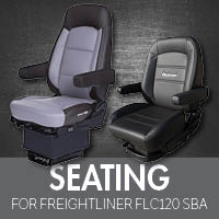 Seating for Freightliner FLC120 Set Back Axle