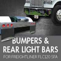 Bumpers for Freightliner FLC120 Set Forward Axle