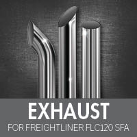 Exhaust for Freightliner FLC120 Set Forward Axle