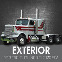 Exterior Parts for Freightliner FLC120 Set Forward Axle