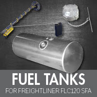 Fuel Tanks for Freightliner FLC120 Set Forward Axle