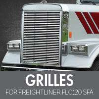 Grilles for Freightliner FLC120 Set Forward Axle