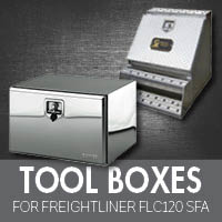 Toolboxes for Freightliner FLC120 Set Forward Axle
