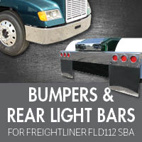 Bumpers for Freightliner FLD112 Set Back Axle