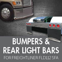 Bumpers for Freightliner FLD112 Set Forward Axle