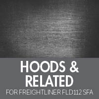 Freightliner FLD 112 Set Forward Axle Hoods & Related