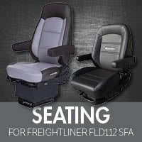 Seating for Freightliner FLD112 Set Forward Axle