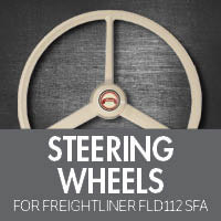 Freightliner FLD 112 Set Forward Axle Steering Wheels