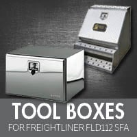 Freightliner FLD 112 Set Forward Axle Tool Boxes