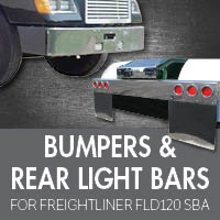 Bumpers for Freightliner FLD120 Set Back Axle