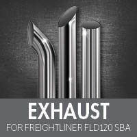 Exhaust for Freightliner FLD120 Set Back Axle