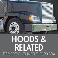 Hoods & Related for Freightliner FLD120 Set Back Axle