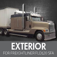 Freightliner FLD 120 Set Forward Axle Exterior Parts