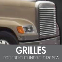 Freightliner FLD 120 Set Forward Axle Grilles