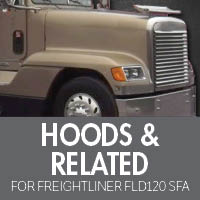 Freightliner FLD 120 Set Forward Axle Hoods & Related