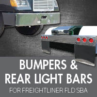 Bumpers for Freightliner FLD Set Back Axle