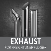 Exhaust for Freightliner FLD Set Back Axle