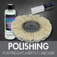 Polishing for Freightliner FLT Cabover