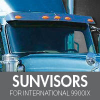 International 9900ix Visors