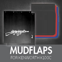 Mudflaps for Kenworth K100C