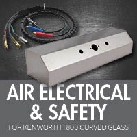 Air Electrical & Safety for Kenworth T800 Curved Glass