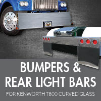 Kenworth T800 Curved Glass Bumpers
