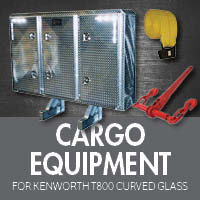 Cargo Equipment for Kenworth T800 Curved Glass
