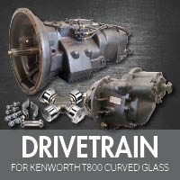 Drive Train for Kenworth T800 Curved Glass