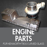 Engine Parts for Kenworth T800 Curved Glass