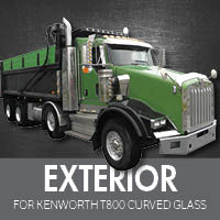 Exterior Parts for Kenworth T800 Curved Glass