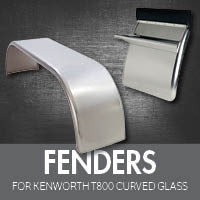 Kenworth T800 Curved Glass Exhaust