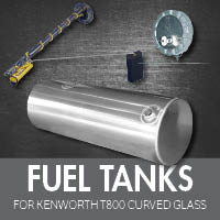 Kenworth T800 Curved Glass Fuel Tanks