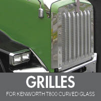 Grilles for Kenworth T800 Curved Glass