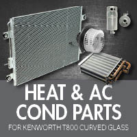 Heat & Air Conditioner Parts for Kenworth T800 Curved Glass