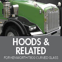Kenworth T800 Curved Glass Hoods