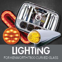 Lighting for Kenworth T800 Curved Glass
