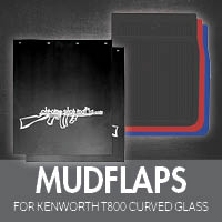 Mudflaps for Kenworth T800 Curved Glass