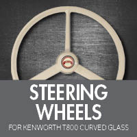 Kenworth T800 Curved Glass Steering Wheels
