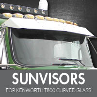 Sun Visors for Kenworth T800 Curved Glass