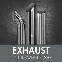 Exhaust for Kenworth T880