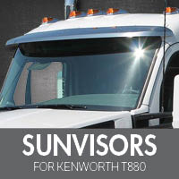 Sun Visors for Kenworth T880