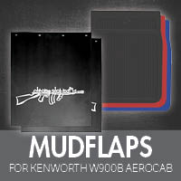 Mudflaps for Kenworth W900B Aerocab