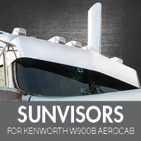 Sun Visors for Kenworth W900B Aerocab