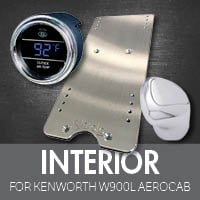 Kenworth W900L Aerocab Interior Accessories